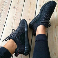 Women's Black Yeezy Boost Sneakers