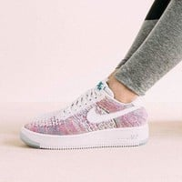 Nike Air Force 1 Flyknit Low'White Multicolor Sneakers I
