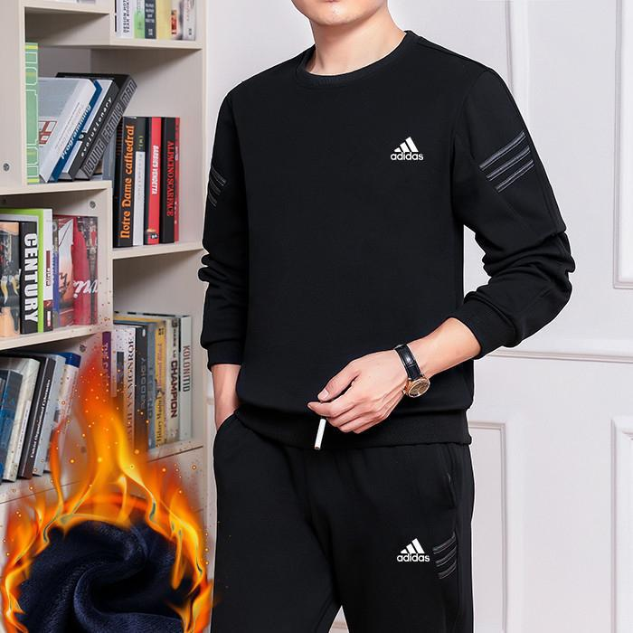 Image of Boys & Men Adidas Top Sweater Pullover Pants Trousers Set Two-Piece Sportswear