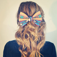 Aztec/Tribal Hair Bow