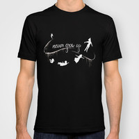 Disney Peter Pan Graphic T-Shirt: Never Grow Up Silhouette MENS + WOMANS