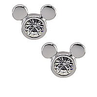 Mickey Mouse Icon Stud Earrings by Arribas