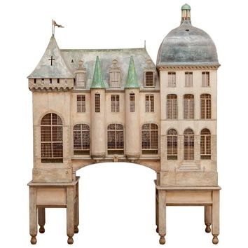Important French Renaissance Birdcage by Eric Lansdown for William Gaylord