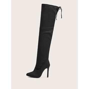 Zip Side Stiletto Heeled Boots