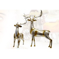 Reindeer- Silver -Right Holiday Decoration