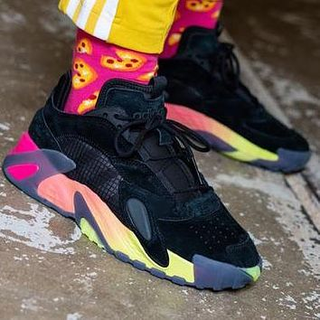 Bunchsun  ADIDAS STREETBALL street style with bright colors Colorful soles
