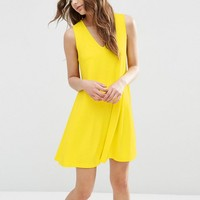 ASOS | ASOS Sleeveless V Neck Swing Dress at ASOS
