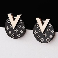 LV Louis Vuitton Newest Stylish Women Chic Earrings Jewelry Accessories