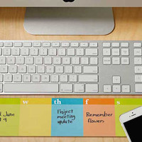 Lulalu Desk & Keyboard List Pad Stripe Weekly