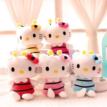 10pcs Plush toys for children kids baby toy lively lovely doll hello kitty cat toy Bouquets Accessory Decorations Christmas Gift