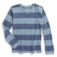 Boy's Burt's Bees Baby Raw Edge Rugby Stripe T-Shirt,