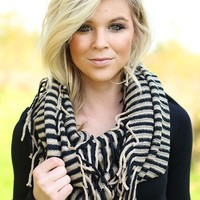 So Chic In Stripes Infinity Scarf
