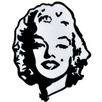 Marilyn Monroe Patch Iron on Applique Alternative Clothing