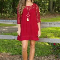 Forever & Always Tunic-Cranberry