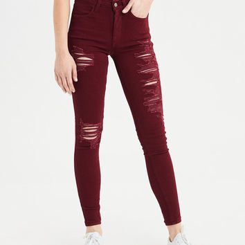 AE Ne(X)t Level Super High-Waisted Jegging, Burgundy