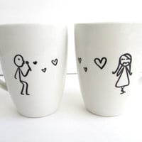 The Lovebirds - Hand Drawn inspired coffee mugs
