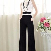 High Waist Flare Wide Leg Palazzo Pants
