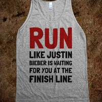 Run Like Justin Is Waiting For You - Text First