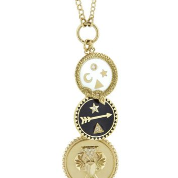 Medium Protection, Petite Dream And Petite Wholeness Medallion Necklace