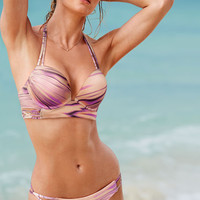 NEW! Strappy Add-2-Cups Push-Up Mid-line Halter