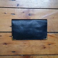 Mens black wallet genuine leather wallets accessories men Dolly Topsy Etsy UK