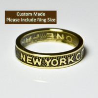 New York City Subway Token Ring / Sizes 5-9 / (Please include size in purchase notes)