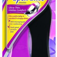 Dr. Scholl's For Her Open Shoe Insoles with Massaging Gel, Women's Sizes 6-10, 1 pair (Pack of 3)