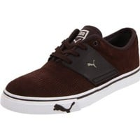 Puma EL Ace Suede Fashion Sneaker,Chocolate Brown/Black Coffee,8.5 D US Men`s/10 D US Women`s