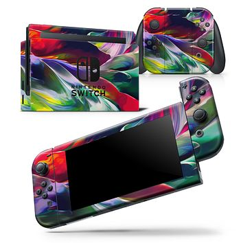 Blurred Abstract Flow V57 - Skin Wrap Decal for Nintendo Switch Lite Console & Dock - 3DS XL - 2DS - Pro - DSi - Wii - Joy-Con Gaming Controller