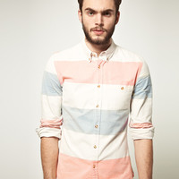 ASOS Oxford Shirt In Block Stripe