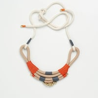 Mali: Crescent Shaped neck-piece with bells and adjustable straps