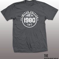 Made in 1980 Shirt - limited edition tshirt, mens womens gift, funny tee, instagram, tumblr, 35th birthday party, anniversary, bro, sister