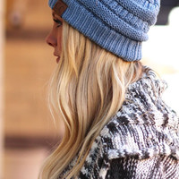 CC Luxe Knit Beanie - Denim (25 additional colors available!)