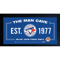 Toronto Blue Jays Man Cave Framed 10x20 Sign w Authentic Game-Used Dirt (MLB Auth)