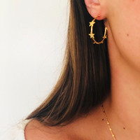 MINI STAR DRIP HOOPS