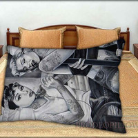 """Audrey Hepburn and Marilyn Monroe - 20 """" x 30 """" inch,Pillow Case and Pillow Cover."""