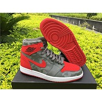 Air Jordan 1 Camo Pack 3m Red Gray Us7 12