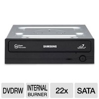 Samsung SH-222BB/BEBE 22X SATA DVDRW Internal Drive (Black), Bulk without Software