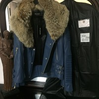 Balmain Jacket 'Size Eu 2XL' (Lambskin W Fox Fur Collar!!) Must See!!