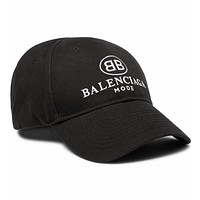 Balenciaga new tide brand fashion men and women leisure wild cap black