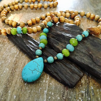 Mala bead necklace, yoga meditation jewelry