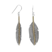 Two Tone Feather Earrings