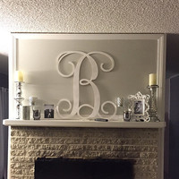 Painted Wooden Monogram Letters, Wall Hanging, Home Decor, Nursery Decor, Wall Art, Wedding Decor, Monogram Wall Sign, Wooden Initials