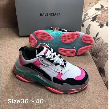 BLACK WHITE PINK BALENCIAGA Balenciaga Triple-S SHOES FOR WOMEN MEN GIFT
