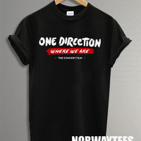 One Direction Shirt The Where We Are Symbol Printed on Black t-Shirt For Men or Women Size TS 59
