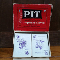 Vintage Pit Box Bull and Bear Edition Game Cards Parker Brothers Salem Massachusetts Made in USA