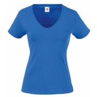 Fruit Of The Loom Ladies Lady-Fit Valueweight V-Neck Short Sleeve T-Shirt (XS) (Royal)