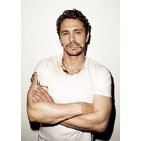 James Franco  poster Metal Sign Wall Art 8in x 12in