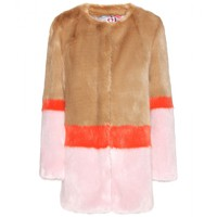 shrimps - mabel faux-fur coat