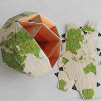 sectional paper globe - 